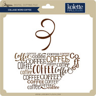Collage Word Coffee