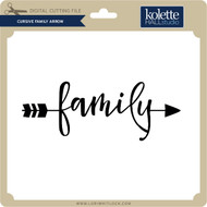 Cursive Family Arrow