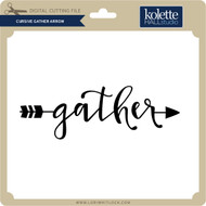 Cursive Gather Arrow