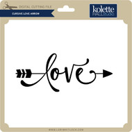 Cursive Love Arrow