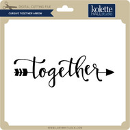 Cursive Together Arrow