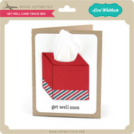 Get Well Card Tissue Box