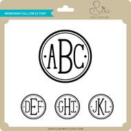 Monogram Full Circle Font
