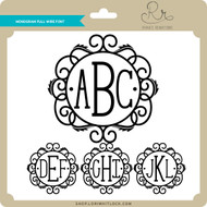 Monogram Full Wire Font