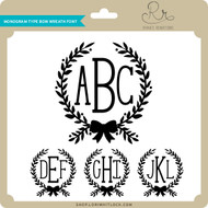 Monogram Type Bow Wreath Font