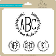 Monogram Type Christmas Wreath Font