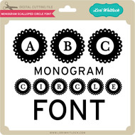 Monogram Scalloped Circle Font