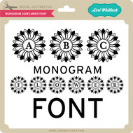 Monogram Sunflower Font
