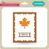 A2 Cutout Card Maple Leaf