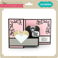 Pop Up Box Card Wedding Hearts