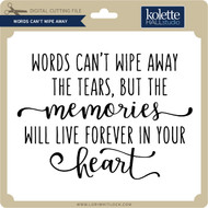 Words Can't Wipe Away