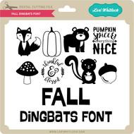Fall Dingbats Font