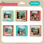 Shadow Box Card Scene Fall Bundle