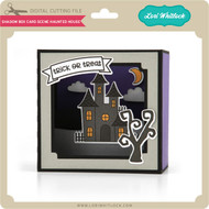 Shadow Box Card Scene Haunted House