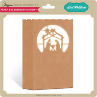 Paper Bag Luminary Nativity