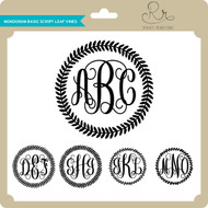 Monogram Base Script Leaf Vines
