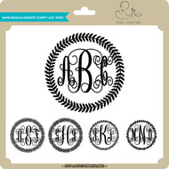Monogram Elaborate Script Leaf Vines