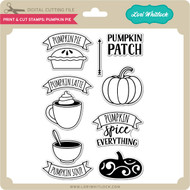 Print & Cut Stamps Pumpkin Pie