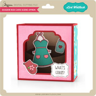 Shadow Box Card Scene Apron
