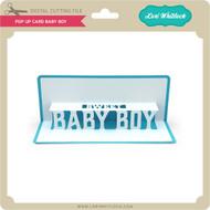 Pop Up Card Baby Boy