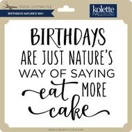 Birthdays Nature's Way