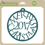 Merry Christmas 2017 Ornament