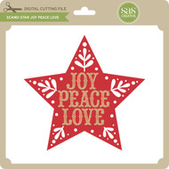 Scandi Star Joy Peace Love