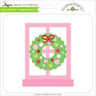 Milk & Cookies - Window Wreath