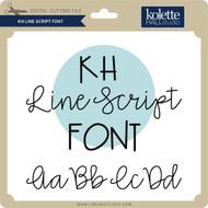 Line Script Font
