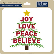 Joy Love Peace Believe Tree 2