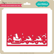 Christmas Santa Border Edge Card