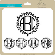 Monogram Basic Holly Wreath