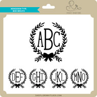 Monogram Type Bow Wreath