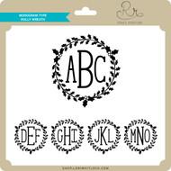 Monogram Type Holly Wreath