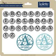 Circle Flourish Monogram Nameplate