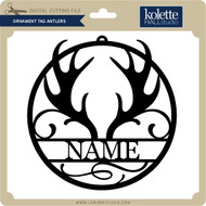 Ornament Tag Antlers