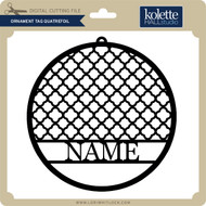 Ornament Tag Quatrefoil