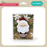 Bobble Head Card Santa
