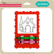 Christmas Card Coloring Gingerbread