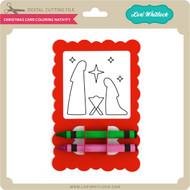 Christmas Card Coloring Nativity