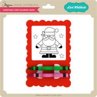 Christmas Card Coloring Santa