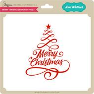 Merry Christmas Flourish Tree 2
