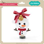 Christmas Tag Snowman 2
