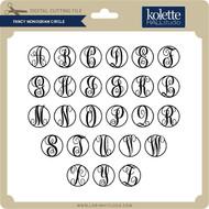 Fancy Monogram Circle