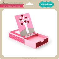 Pop Up Drawer Heart Tree