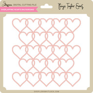 Overlapping Hearts Background