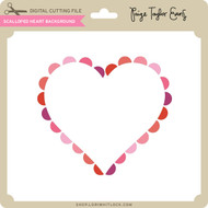 Scalloped Heart Background