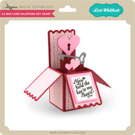 A2 Box Card Valentine Key Heart