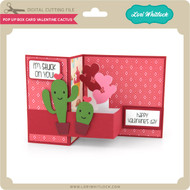 Pop Up Box Card Valentine Cactus