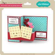 Pop Up Box Card Valentine Waffle